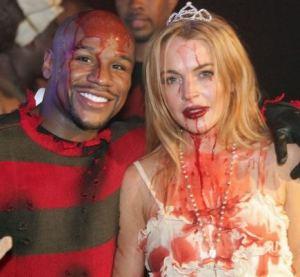 Floyd Mayweather Spent Halloween With Lindsay Lohan