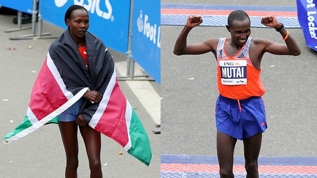 Kenya's Geoffrey Mutai And Priscah Jeptoo Win NYC Marathon