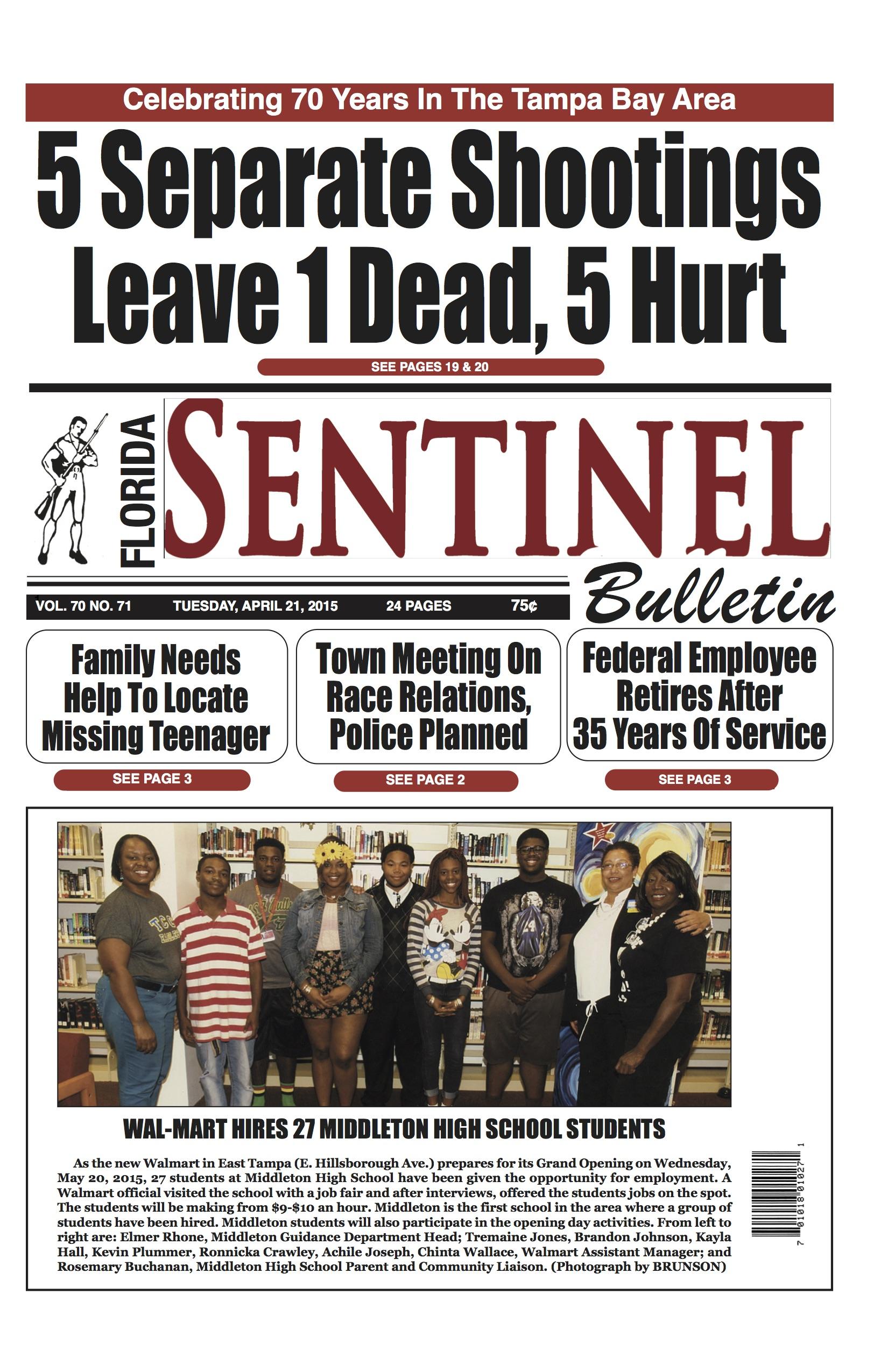 Florida Sentinel 4-21-15 Edition | Florida Sentinel Bulletin