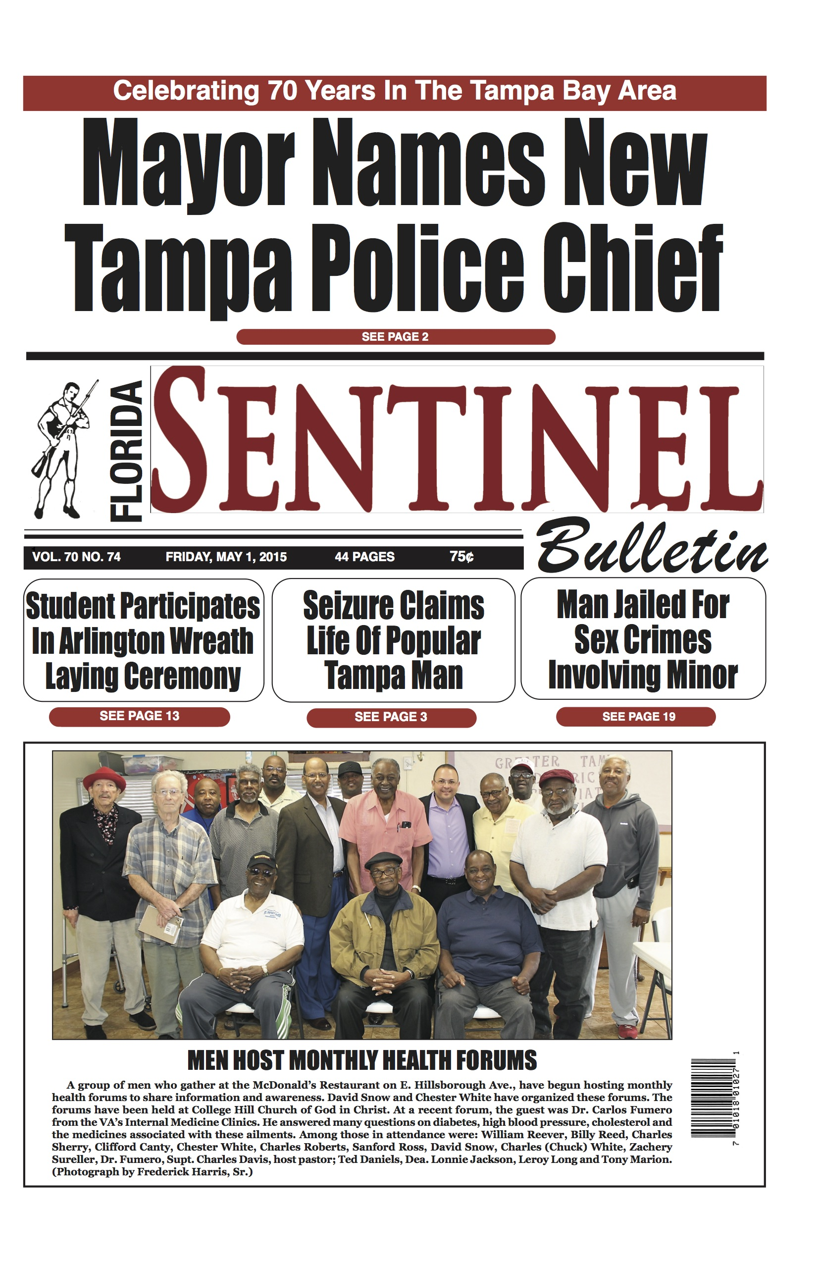 Florida Sentinel 5-1-15 Edition | Florida Sentinel Bulletin