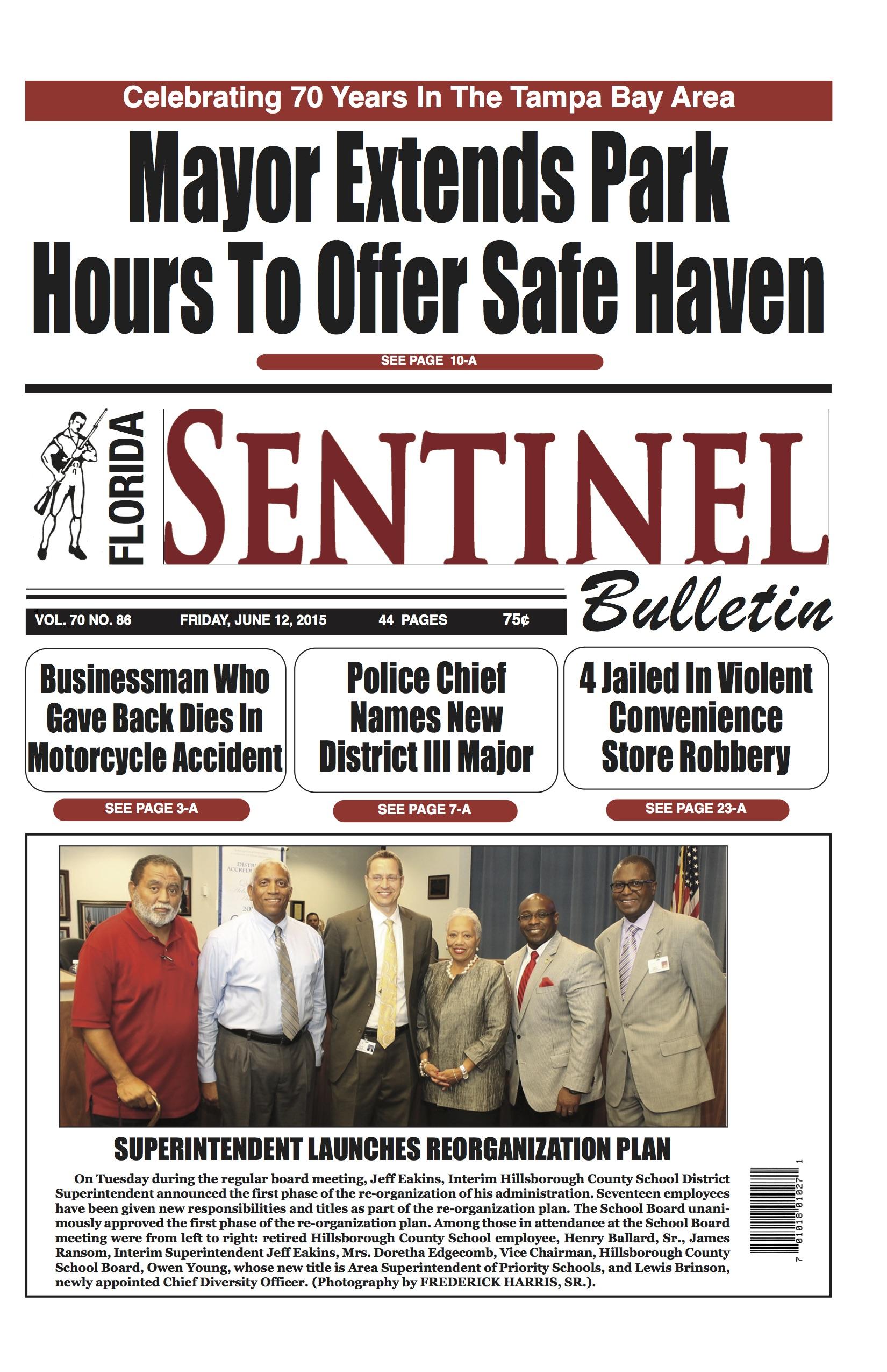 Florida Sentinel 6-12-15 Edition | Florida Sentinel Bulletin