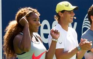 Serena Williams, Rafael Nadal playing in Manila
