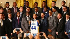 Warriors Celebrated At White House