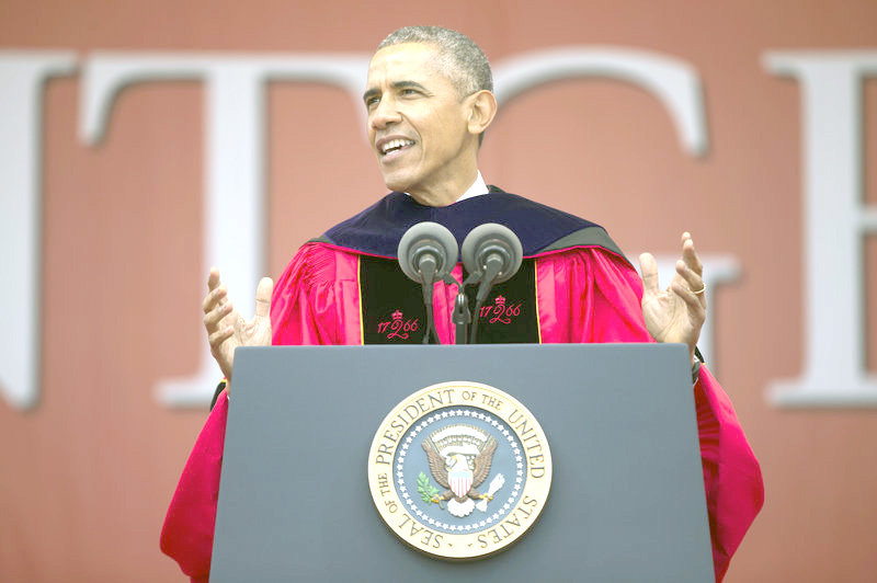 Without Naming Him, Pres. Obama Takes Aim At Trump During Rutgers Commencement