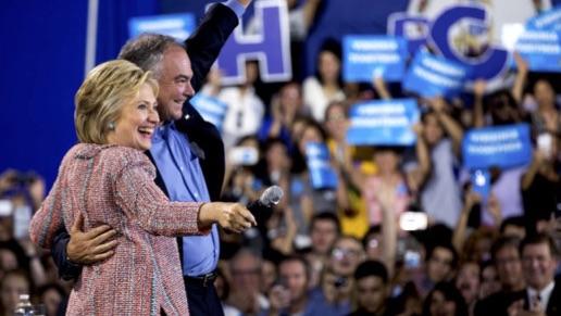 Hillary Clinton's Running Mate Is Virginia Senator Tim Kaine