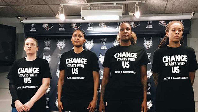 Minnesota Cops Walk Off Job After WNBA  Players Warm-Up In Black Lives Matter Shirts