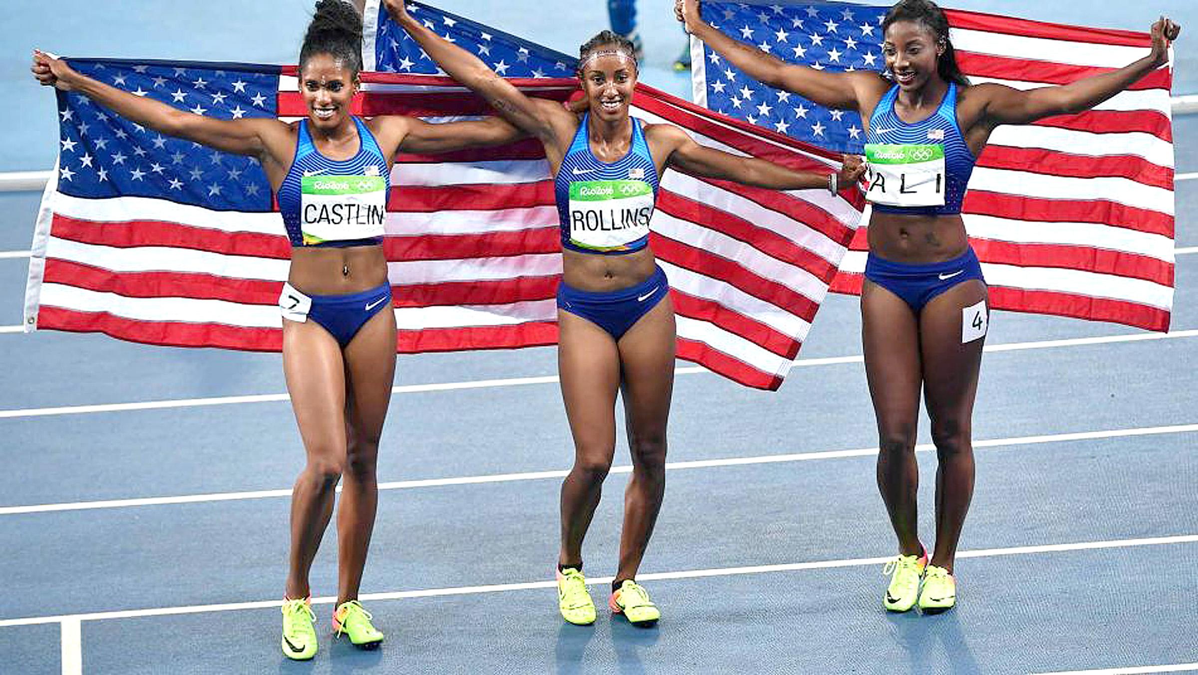 Team USA Sweeps 100m Hurdles Medals