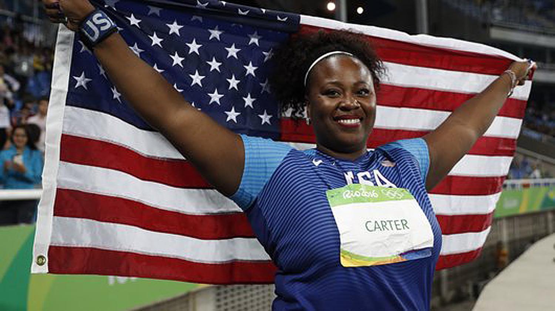 Michelle Carter Wins Historic Shot Put Gold