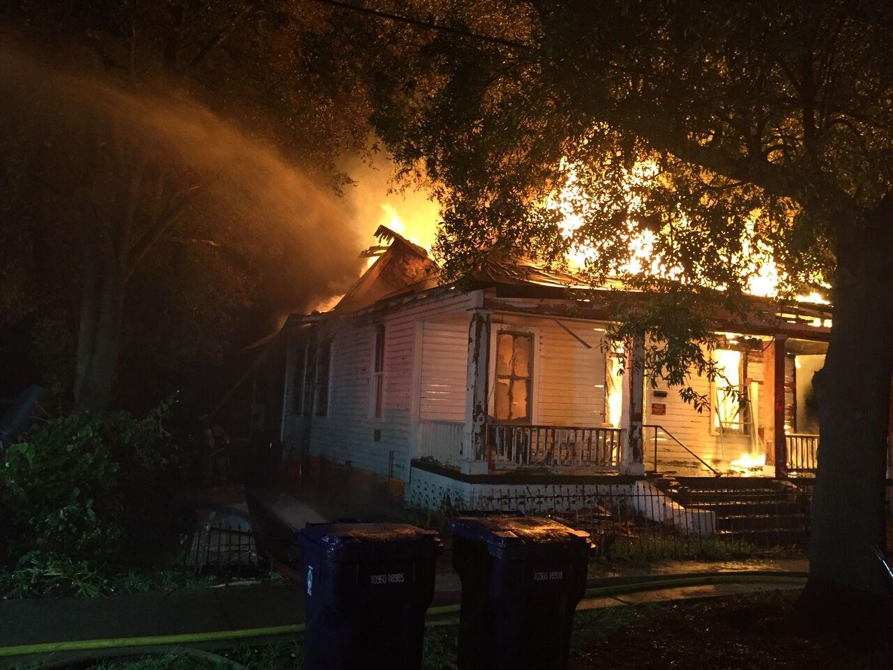 Firemen Battle Early Morning House Fire