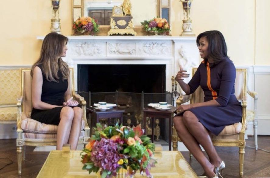 Michelle Obama Shows Melania Trump Around The White House