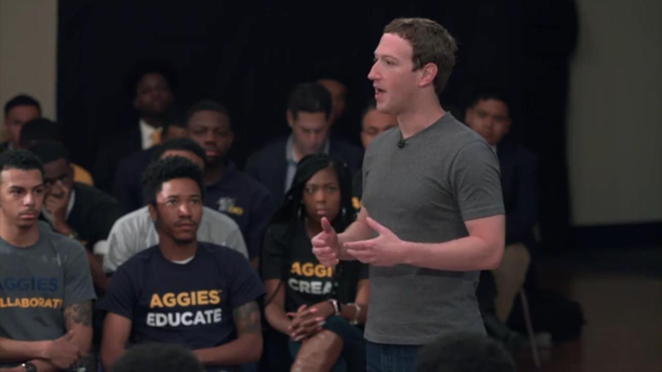 Facebook Founder Visits HBCU NC A&T