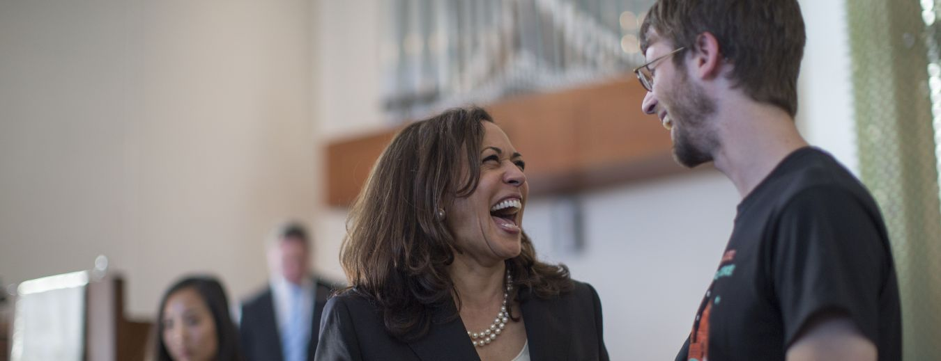 U.S. Senator Kamala Harris Is Cheered At Town Hall Meeting
