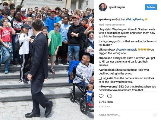 100 8th Graders Refuse To Pose With Republican Congressman And House Speaker Paul Ryan