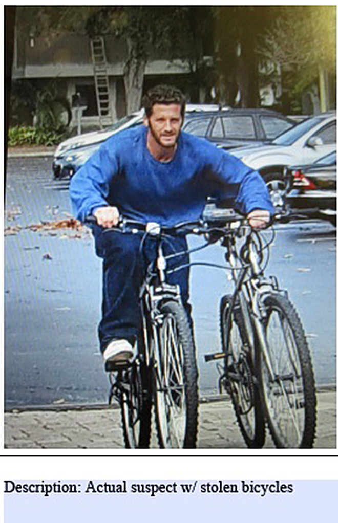 Suspect SoughtIn Theft Of Mountain Bikes
