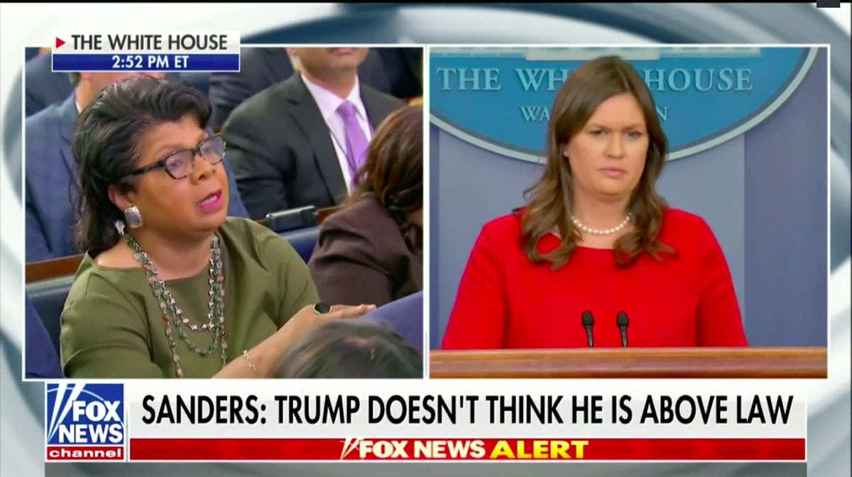 White House Press Sec. Sarah Huckabee Sanders Goes Street OnWhite House  Correspondent April Ryan