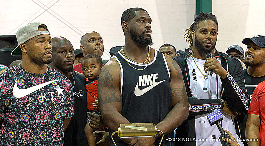 Saints Players Join Protest To Denounce Kenner, LA Mayor's Nike Ban