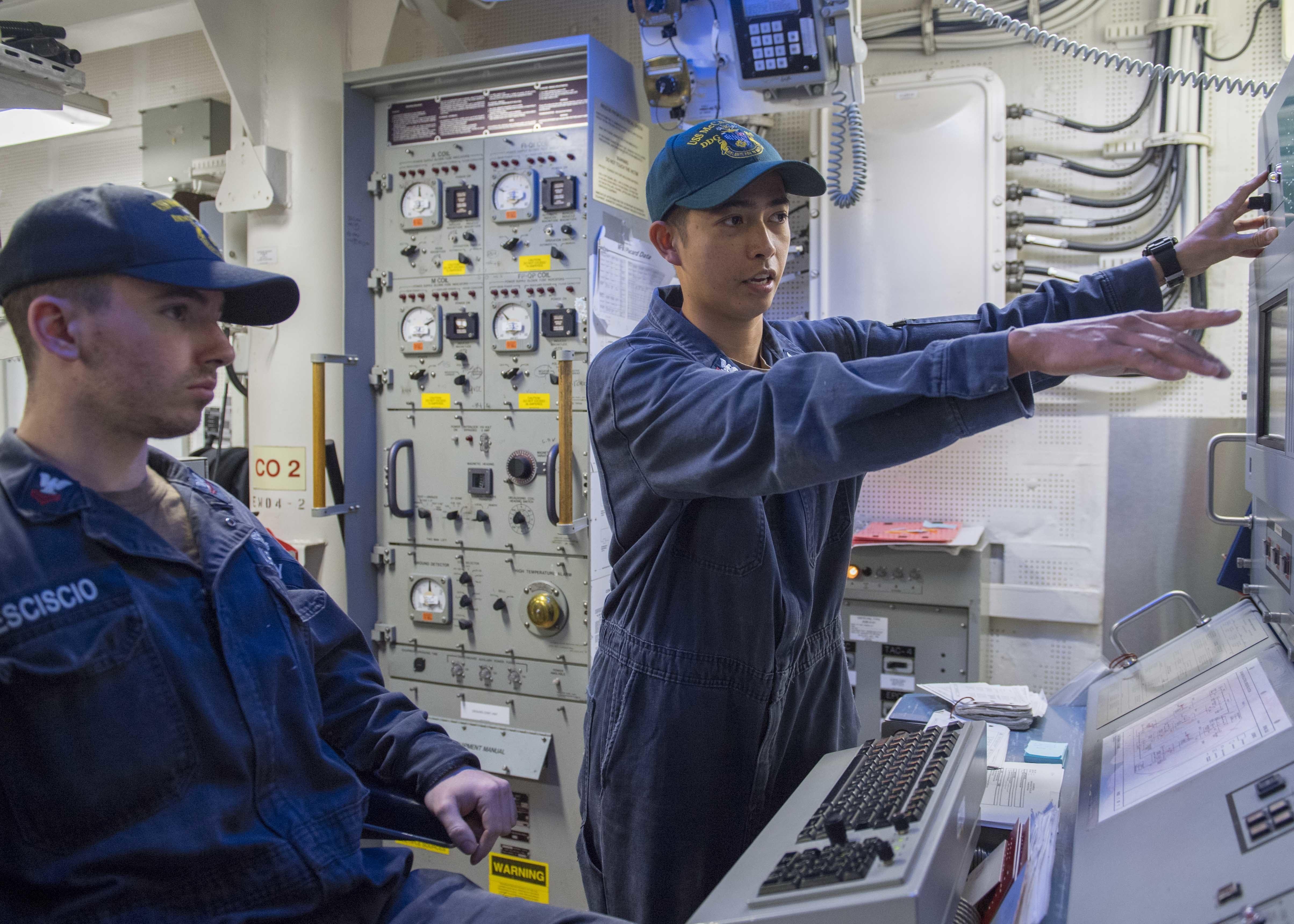 Engineering Training Team Aboard USS McCampbell