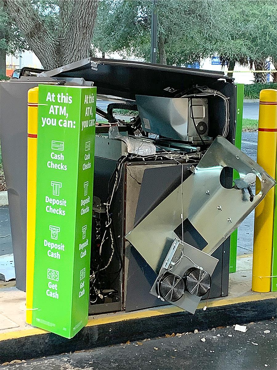 Damaged ATM Machine