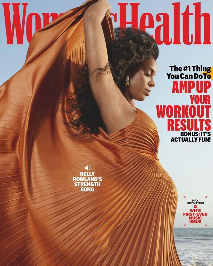 Kelly-Rowland-Is-Pregnant-Expecting-2nd-Child-With-Husband-Tim-Weatherspoon-Womens-Health-Cover